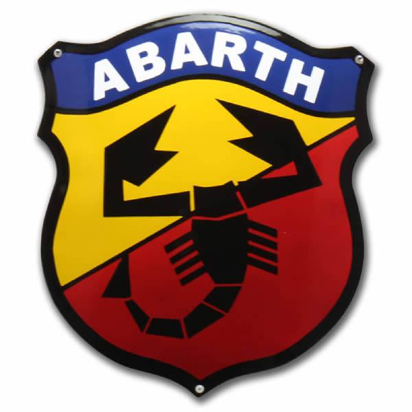 Emaille Autobord Abarth Schild (35x40 cm)