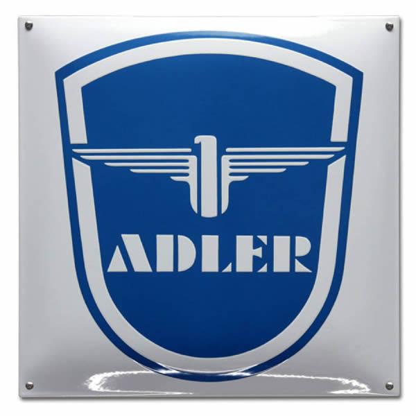 Emaille Autobord Adler (40x40 cm)