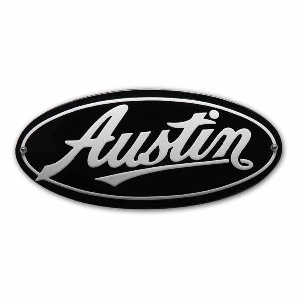 Emaille Autobord Austin (30x15 cm)