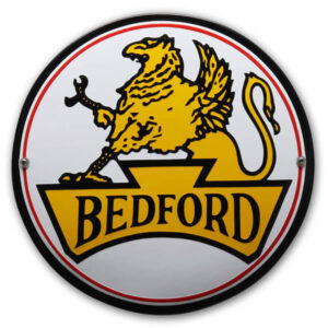 Emaille Autobord Bedford (25 cm)
