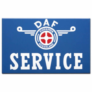 Emaille Autobord DAF Service (40x27 cm)