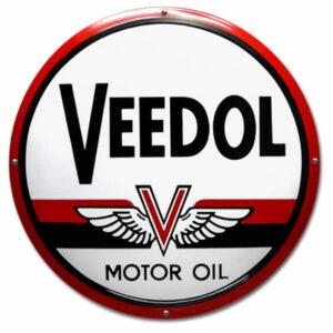Emaille Benzinebord Veedol (50 cm)