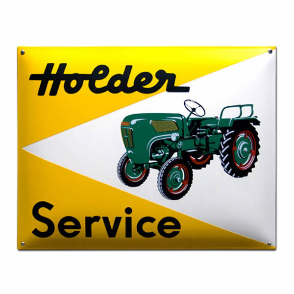 Emaille Tractorbord Holder (50x40 cm)