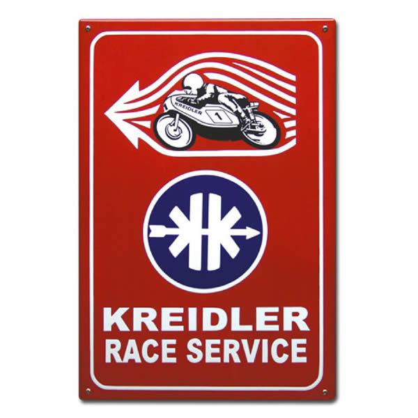 Emaille Tweewielerbord Kreidler (40x60 cm)