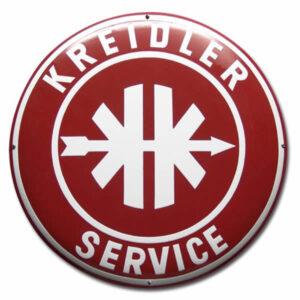 Emaille Tweewielerbord Kreidler Service (50 cm)