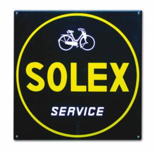 Emaille Tweewielerbord Solex Service (50x50 cm)