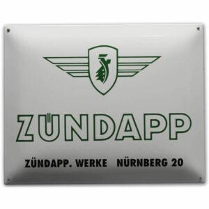 Emaille Tweewielerbord Zundapp (50x40 cm)