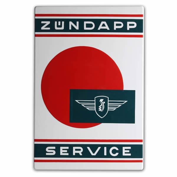 Emaille Tweewielerbord Zundapp Service (40x60 cm)