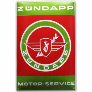 Emaille Tweewielerbord Zundapp motor service (40x60 cm)