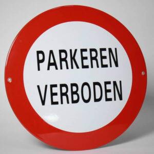 Emaille Veiligheidsbord Parkeren Verboden