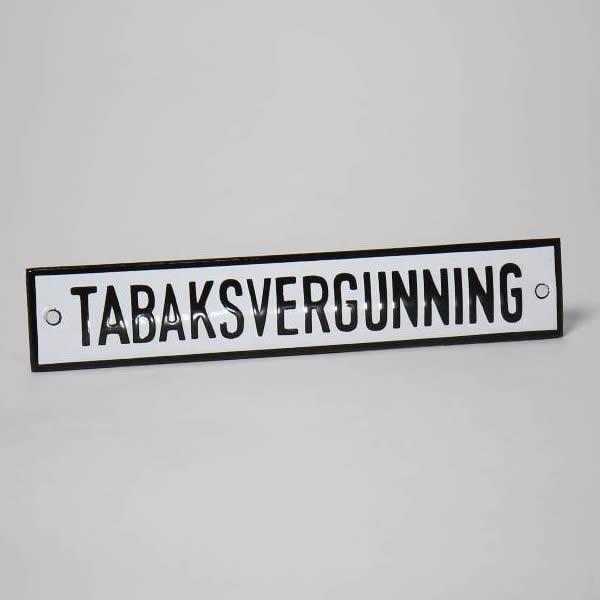 Emaille horecabord Tabaksvergunning (16x3 cm)
