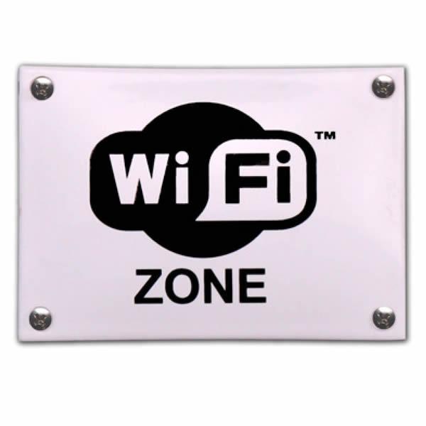 Emaille horecabord Wifi Zone (14x10 cm)