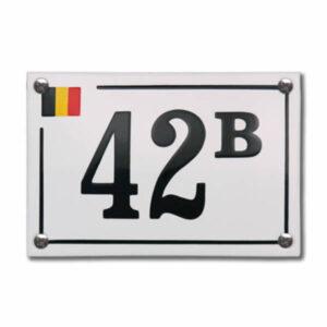 Emaille huisnummer Design Baarle Hertog (15x10 cm)