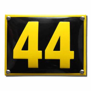 Emaille huisnummer Design Naarden (16x12 cm)