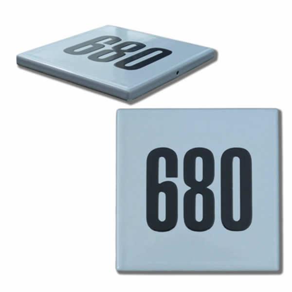 Emaille huisnummer Quadra (10x10 cm)