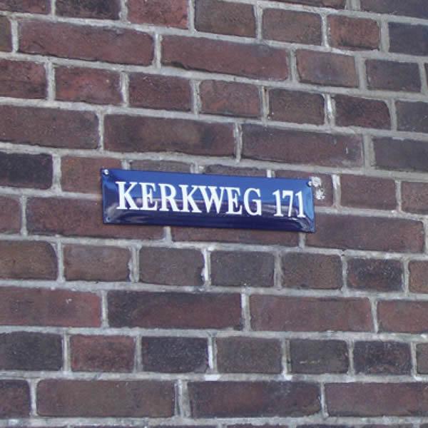 Emaille straatnaambord