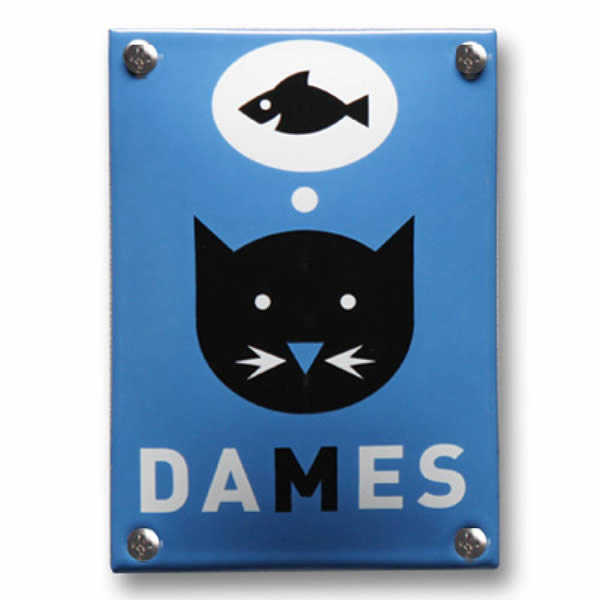 Emaille toiletbord Dames (10x14 cm)