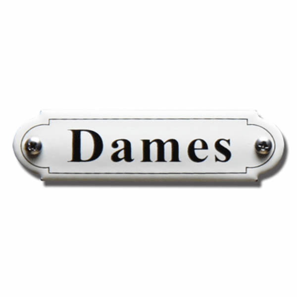 Emaille toiletbord Dames Klassiek (11.5x2.7 cm)