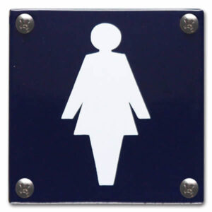 Emaille toiletbord Dames Pictogram (10x10 cm)