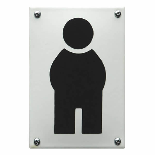 Emaille toiletbord Pictogram Mannetje (8x12 cm)