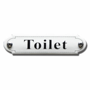 Emaille toiletbord Toilet Klassiek (11.5x2.7 cm)