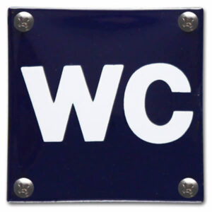 Emaille toiletbord WC Pictogram (10x10 cm)
