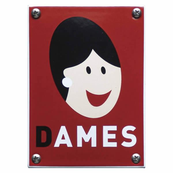 Emaille toiletbord design Dames (10x14 cm)