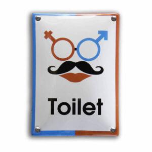 Emaille toiletbord toilet (10x14 cm)