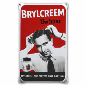 Emaille wandreclame Brylcreem (20x33 cm)