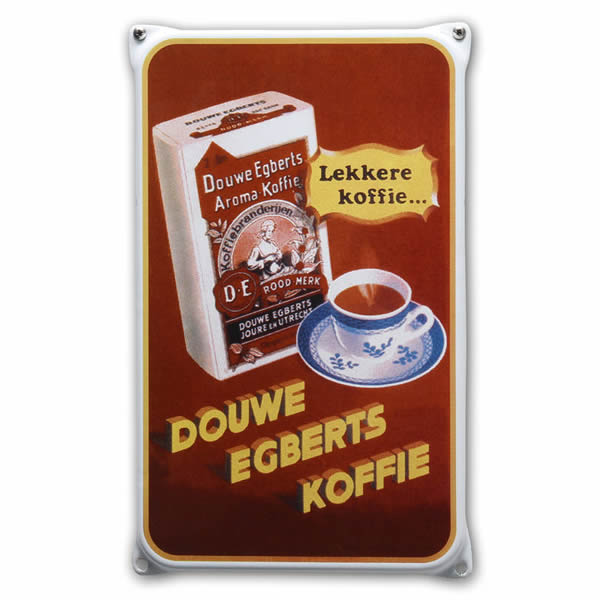 Emaille wandreclame Douwe Egberts (20x33 cm)