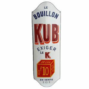 Emaille wandreclame Kub Bouillon (33x100 cm)