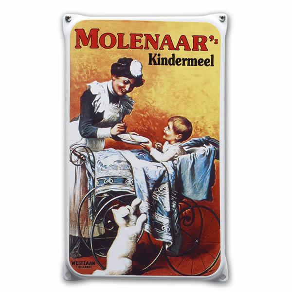 Emaille wandreclame Molenaar (20x33 cm)