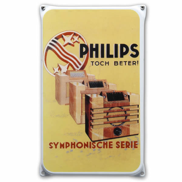 Emaille wandreclame Philips (20x33 cm)