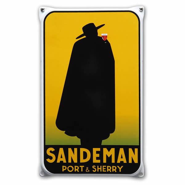 Emaille wandreclame Sandeman (20x33 cm)