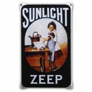 Emaille wandreclame Sunlight (20x33 cm)