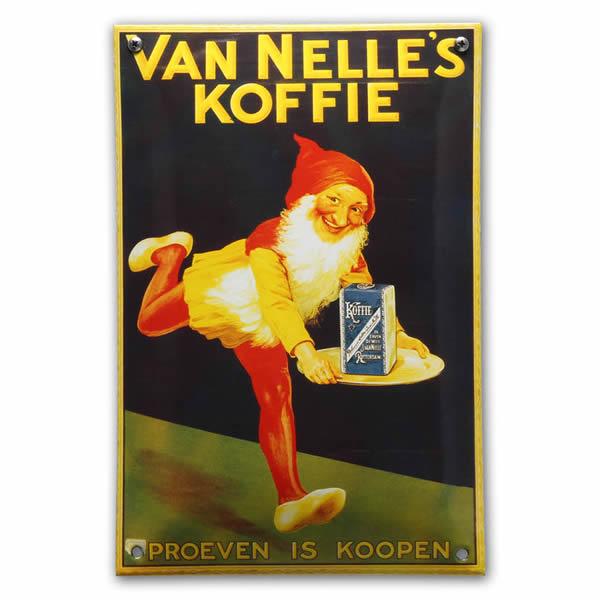 Emaille wandreclame Van Nelle (20x33 cm)