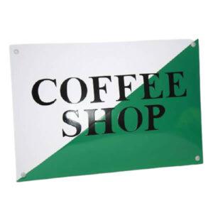 Emaille horecabord Coffeeshop (30x20 cm)