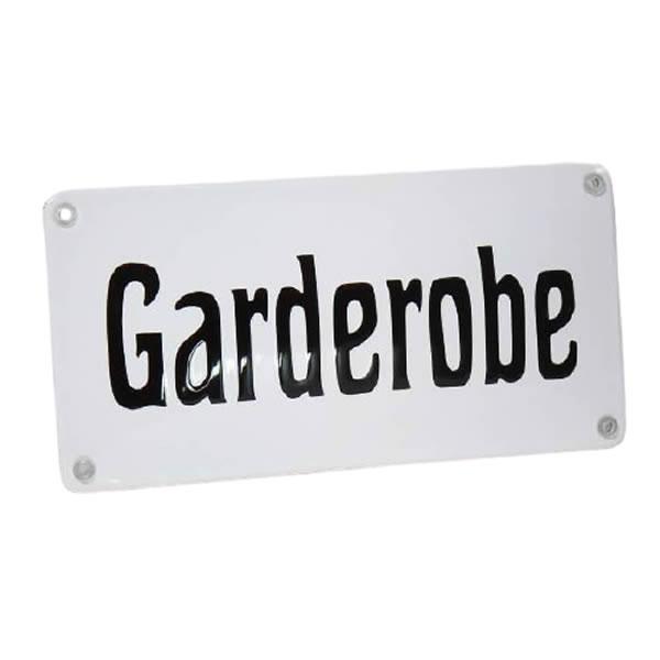 Emaille horecabord Garderobe (20x10 cm)