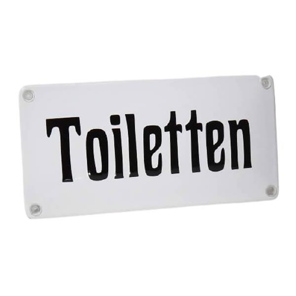 Emaille horecabord Toiletten (20x10 cm)