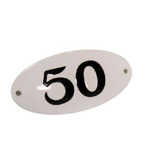 Emaille huisnummer ovaal (10x5 cm)