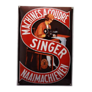Emaille wandreclame Singer (35x50 cm)