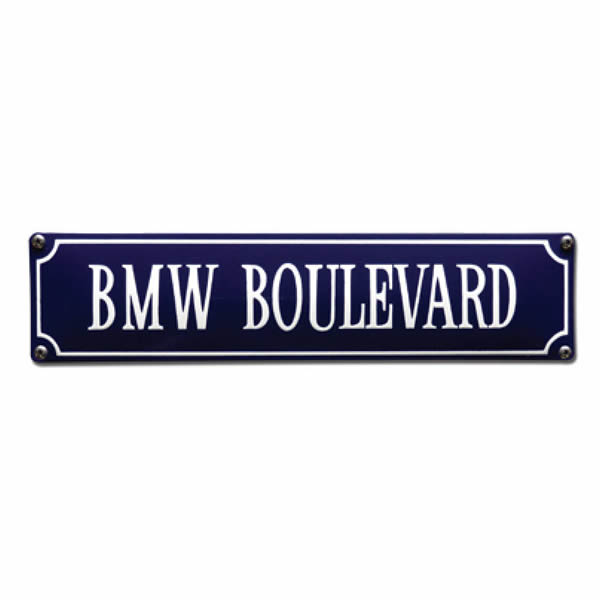 Straatnaambord emaille BMW (33x8 cm)