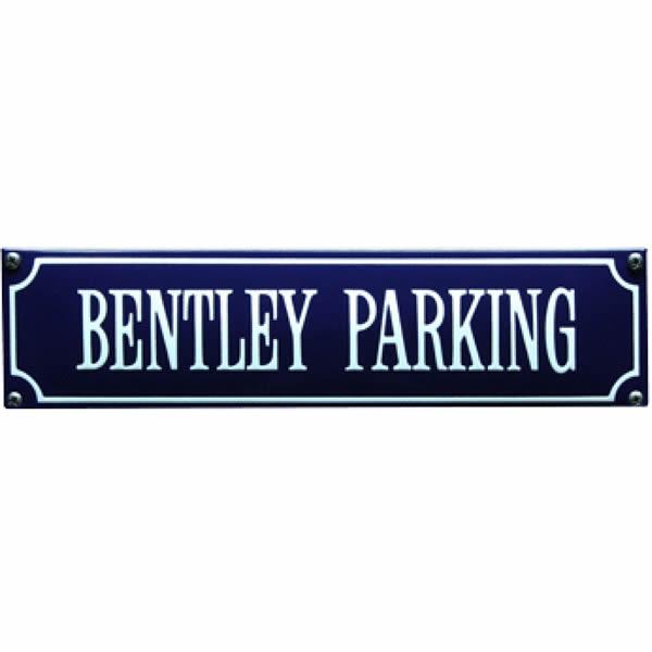 Straatnaambord emaille Bentley (33x8 cm)