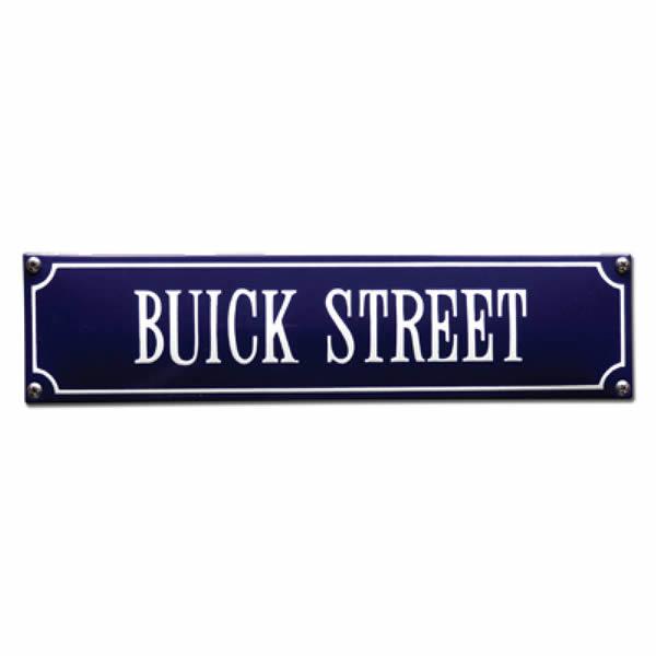 Straatnaambord emaille Buick (33x8 cm)