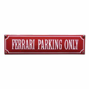 Straatnaambord emaille Ferrari (33x8 cm)