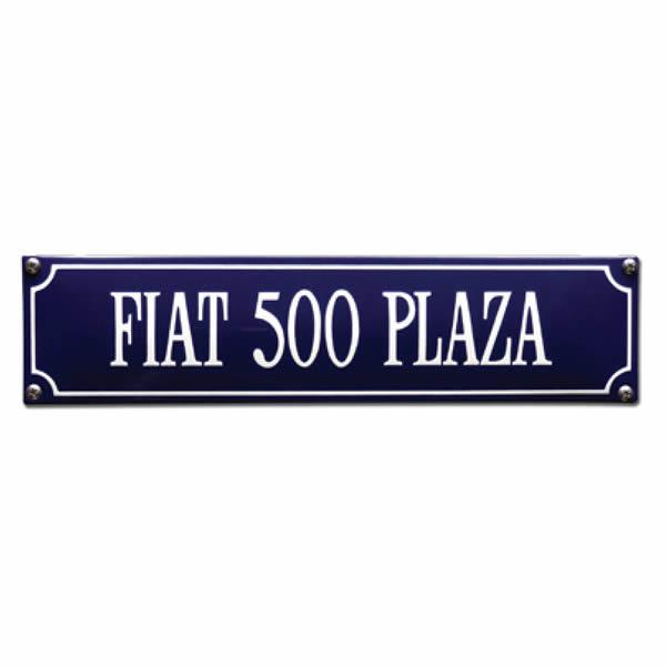 Straatnaambord emaille Fiat 500 (33x8 cm)