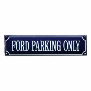 Straatnaambord emaille Ford (33x8 cm)
