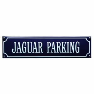 Straatnaambord emaille Jaguar (33x8 cm)