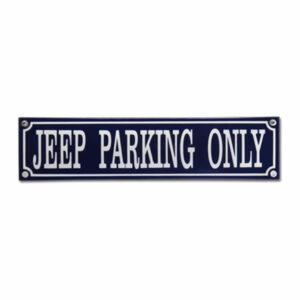 Straatnaambord emaille Jeep (33x8 cm)