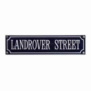 Straatnaambord emaille Landrover (33x8 cm)